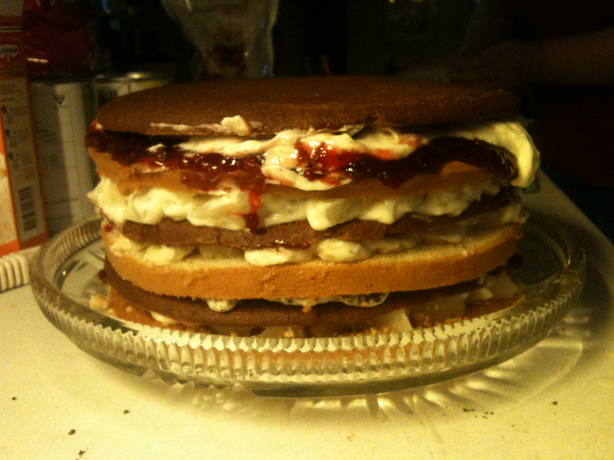 layered birthday cake